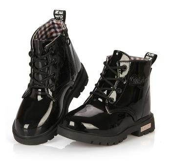 Новое поступление 2015 детей мартин сапоги дети PU кожаные ботинки снега  мода мальчики девочки ребенок обувь 81f02acaed3c6