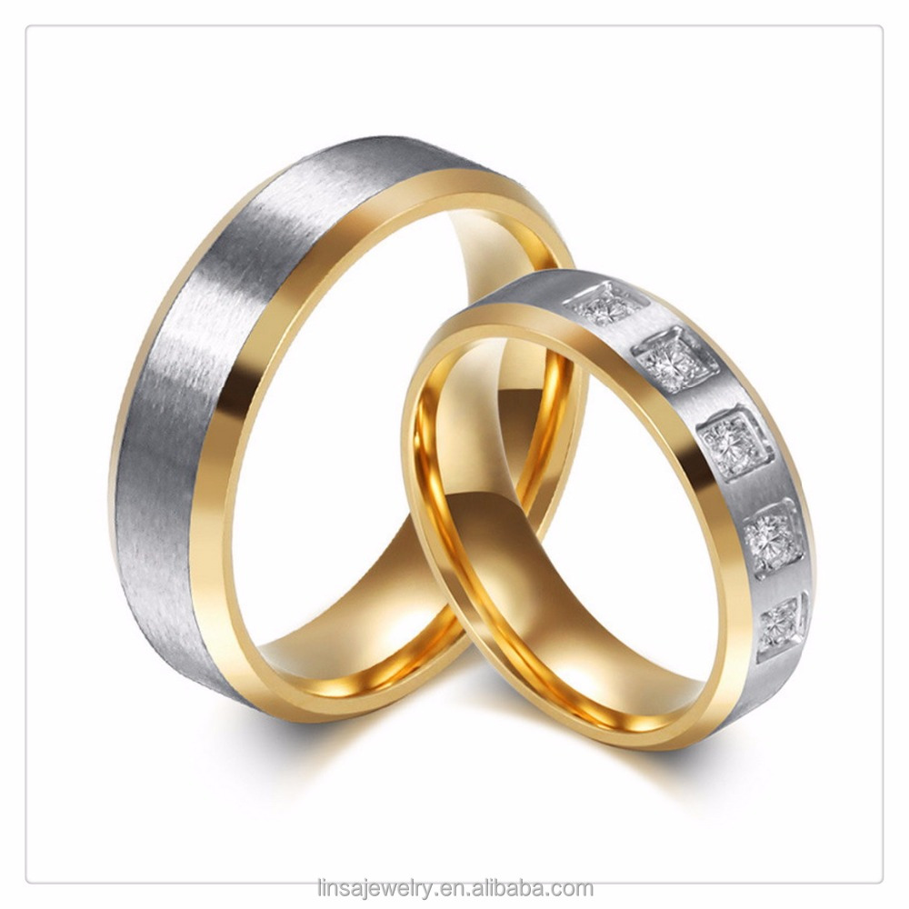 China Alibaba Custom Stainless Steel Couple Wedding Rings positive Lover jewelry LVR044