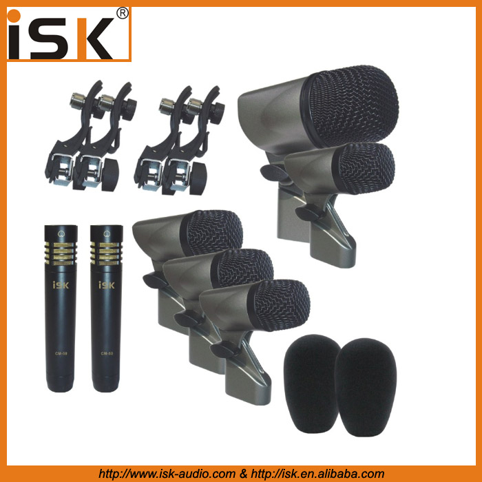 Hot Sale 7 Pieces Drum Microphone Kit Drum Microphone
