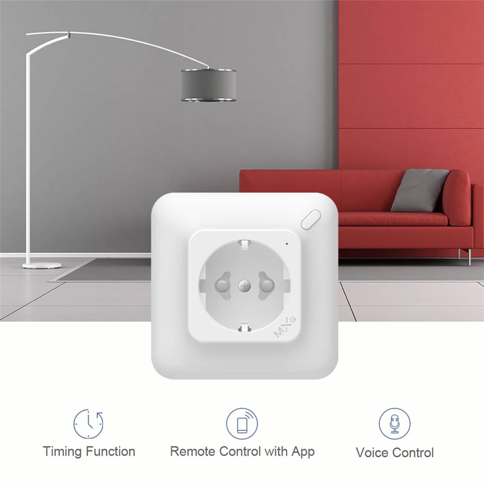 Smart Home Automation Euro 10A Wifi Interruttore A Parete Spina per Google per la casa