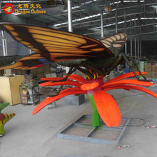 Handmade waterproof 3D 3d insects animatronic butterflies animals for sale