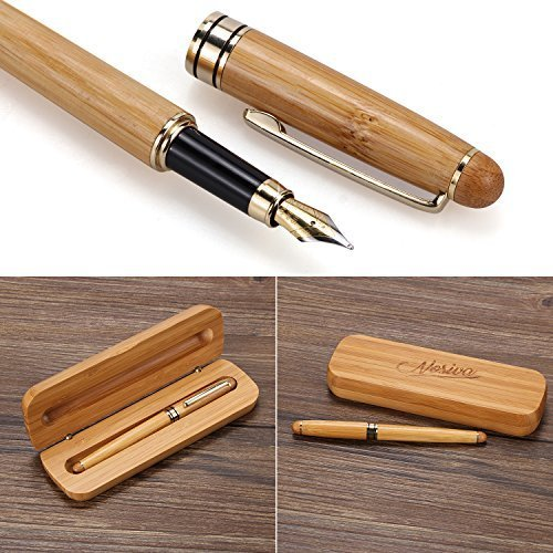 NOSIVA Fountain Pen Handcrafted Natural Bamboo Pen Germany Nibs Vintage Gift Fountain Pen