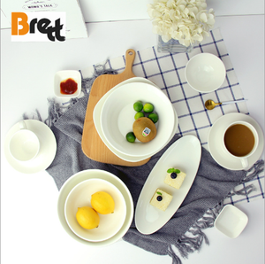 Porcelain dinnerware set ceramic accessories for hotel restaurant bowl dish spoon cups