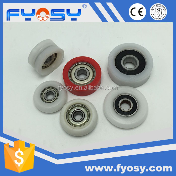 factory supply nylon U&V groove flat round cnc sliding roller wheel bearing 608zz 696zz 688rs elevator drive pulley