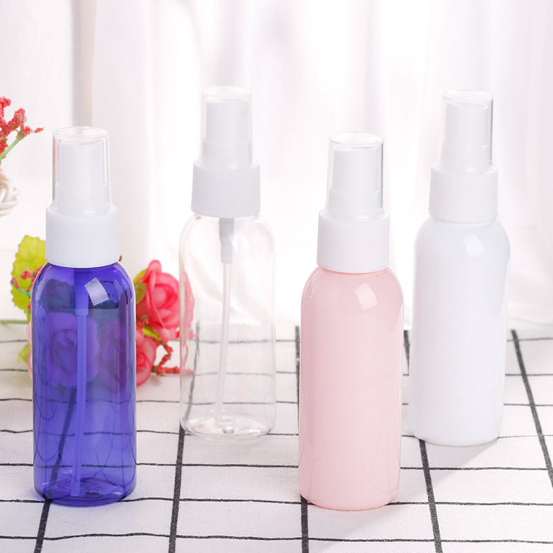 20 ml 25 ml 30 ml 50 ml 75 ml PET Boş Küçük Mini Plastik Ince Sis Doldurulabilir Pompa Basınç Parfüm Kozmetik Sprey Şişe