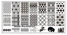 Moda série de aço Stamp estamparia imagem Konad placa de impressão da arte DIY elefante JL10