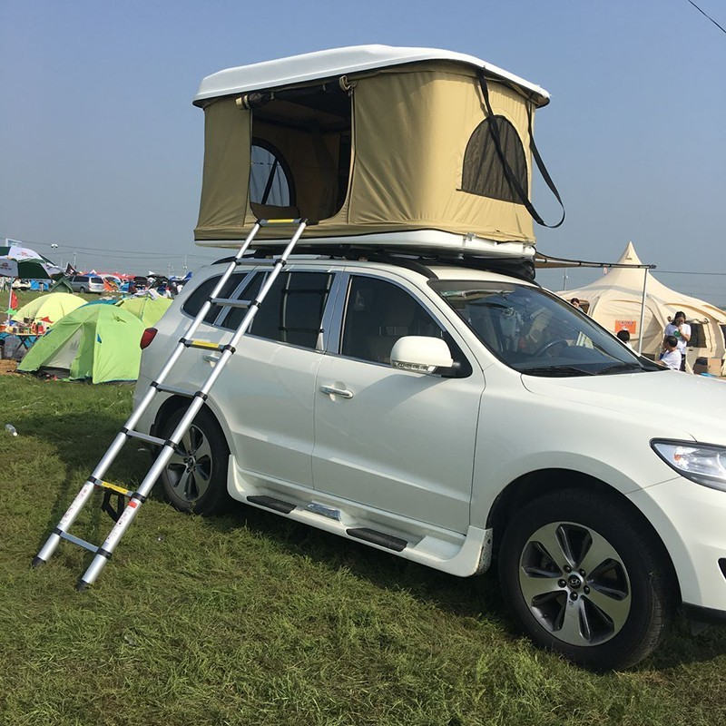 Triangular Abs Plastic Hard Shell Car Roof Top Tent For