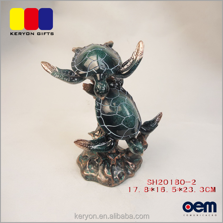 Professional Decorative Turtle Design Resin African Animal Figurines