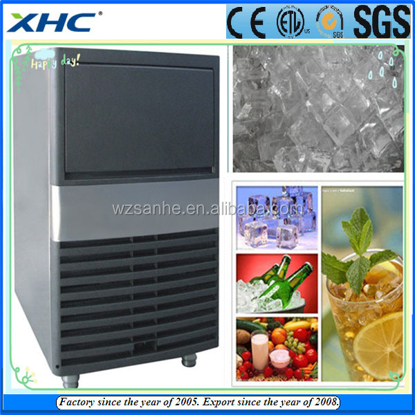 With water filter and ice bin Small Comercial ice machine maker