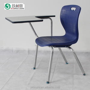 TSL-8236-4 School Metal Frame Student chair with folding Writing Table