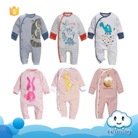Baby animal romper organic clothes baby boys apparel in guangzhou wholesale