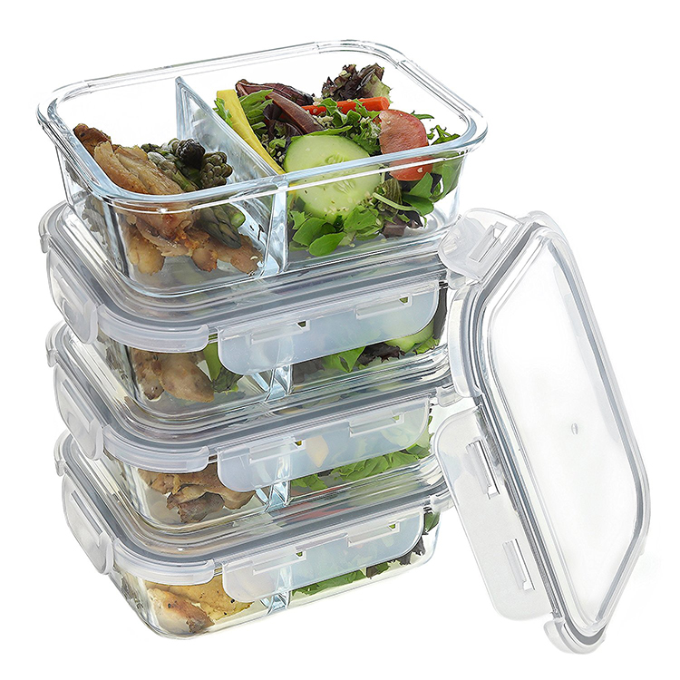 Microwave Safe Glass Food Storage Meal Prep Lunch