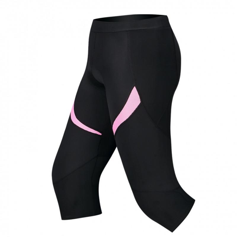 Women/'s Cycling Bicycle Shorts 4D Coolmax Padded Sport Bike 3//4 Pants M-XL