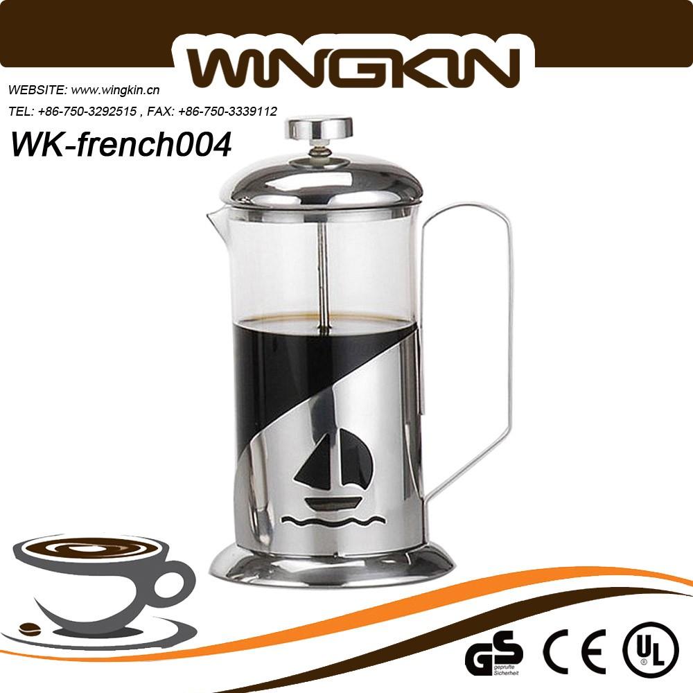 0.35/0.6/1l French Press For Coffee - Buy Palm Restaurant Cafe Press,Modern Plating Glass Body ...