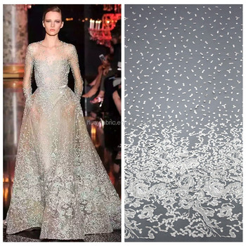 2016 White Floral Embroidery Bridal Lace Material High Quality