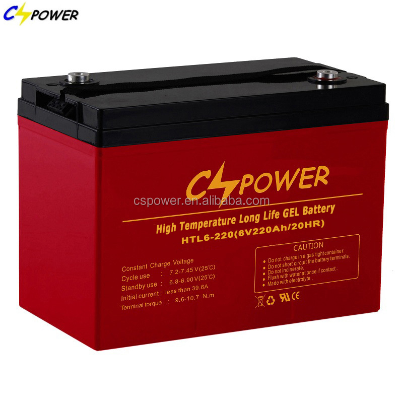 CSPOWER 6v 220ah golf cart battery with 3 years warranty