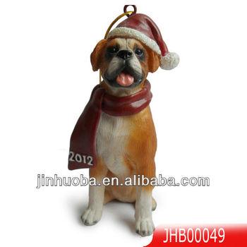 Polyresin Boxer Christmas Dog Ornament - Buy Christmas Ornament ...