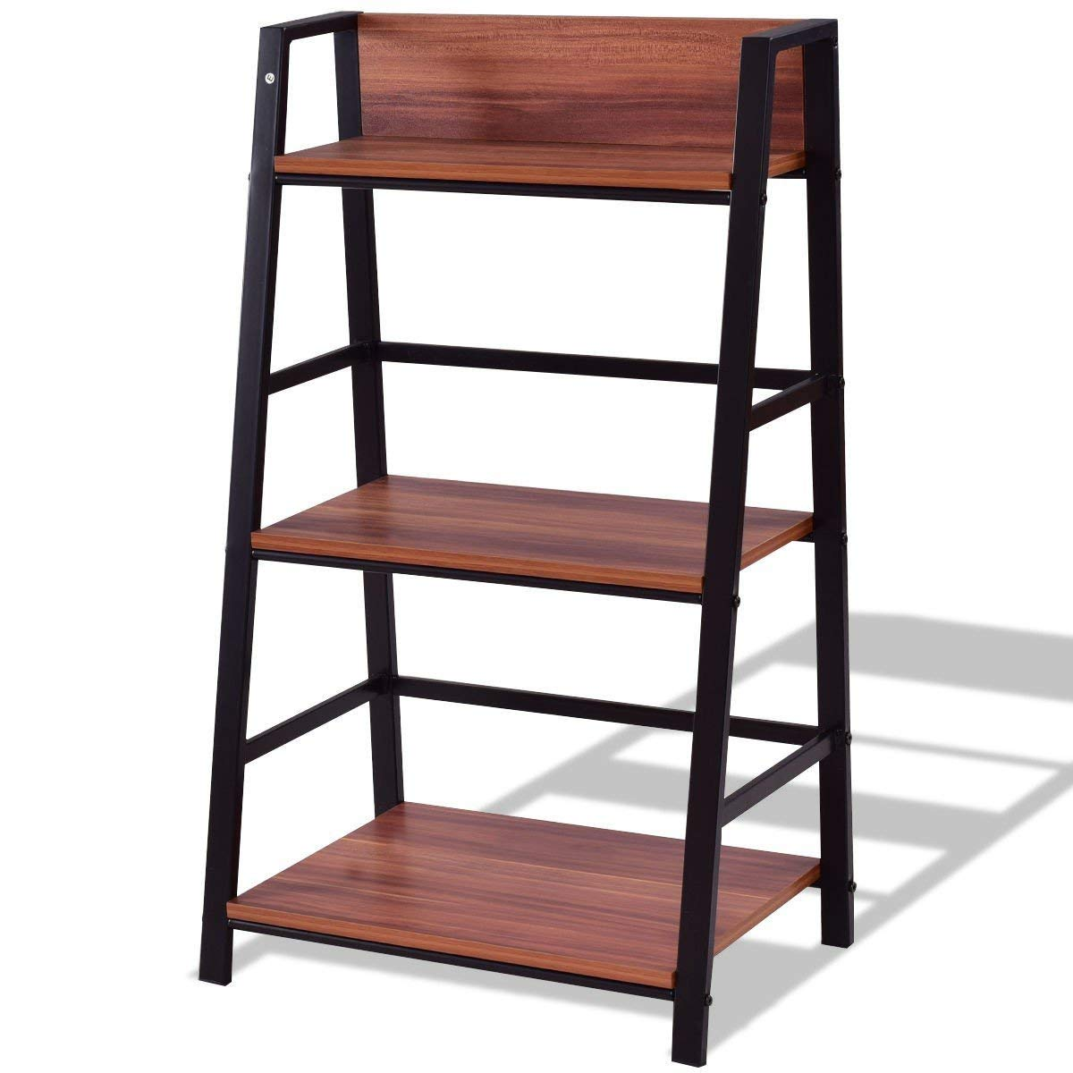 Get Quotations Custpromo 3 Tier Stand Ladder Shelf Bookcase Storage Rack Bookshelf Plant Display Home Office
