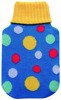 hot dot knitted hot water bottle cover