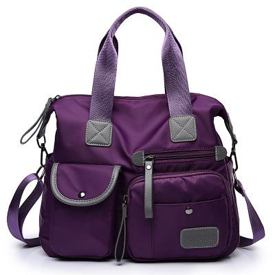 Bolsa de viagem de poliéster bolsa, atacado chinês das senhoras lazer saco de mão, lavagem de tecido alça de ombro das mulheres saco do mensageiro
