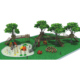 KAIQI GROUP Hot sale kids favorite attractions outdoor wood PE playsets KQ60074A