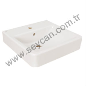 45x45 Square Countertop Ceramic Sink