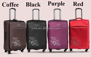 waterproof oxford high quality fashionable suitcase airflight trolley luggage travel bag on wheels