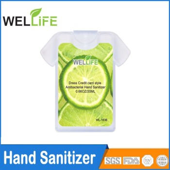 Antibacterial Colorful Credit Card Hand Sanitizer Spray Credit Card