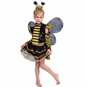 Carnival party fancy dress children girl bee costume for kids