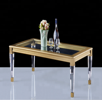 Hot sale acrylic furniture modern  style dining table for dining room