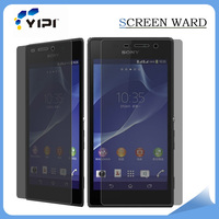 Hottest Products 2016!!! 0.4mm 3D Anti Shock Privacy Screen Protector For Sony Xperia V, Screen Protector With Design/