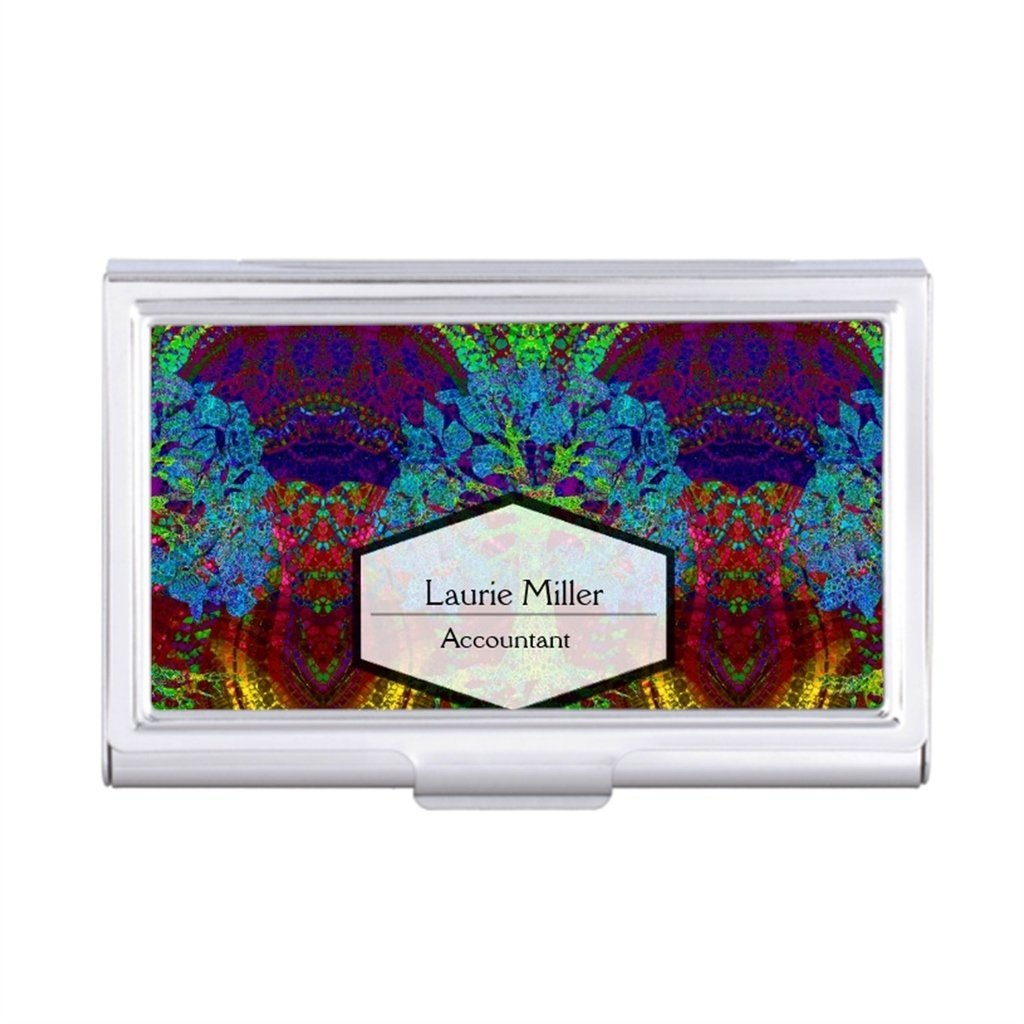 TeddyQue Business Card Holder Case Tree Of Life Card Holder Womens Inspirational Designs Luxury Business Card Holder