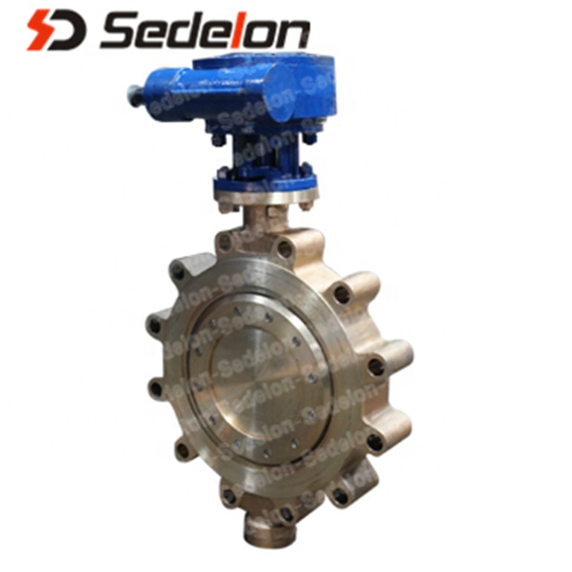 Aluminium Bronze Tubuh Wafer Type Worm Gear Butterfly Valve untuk Air Desalinasi