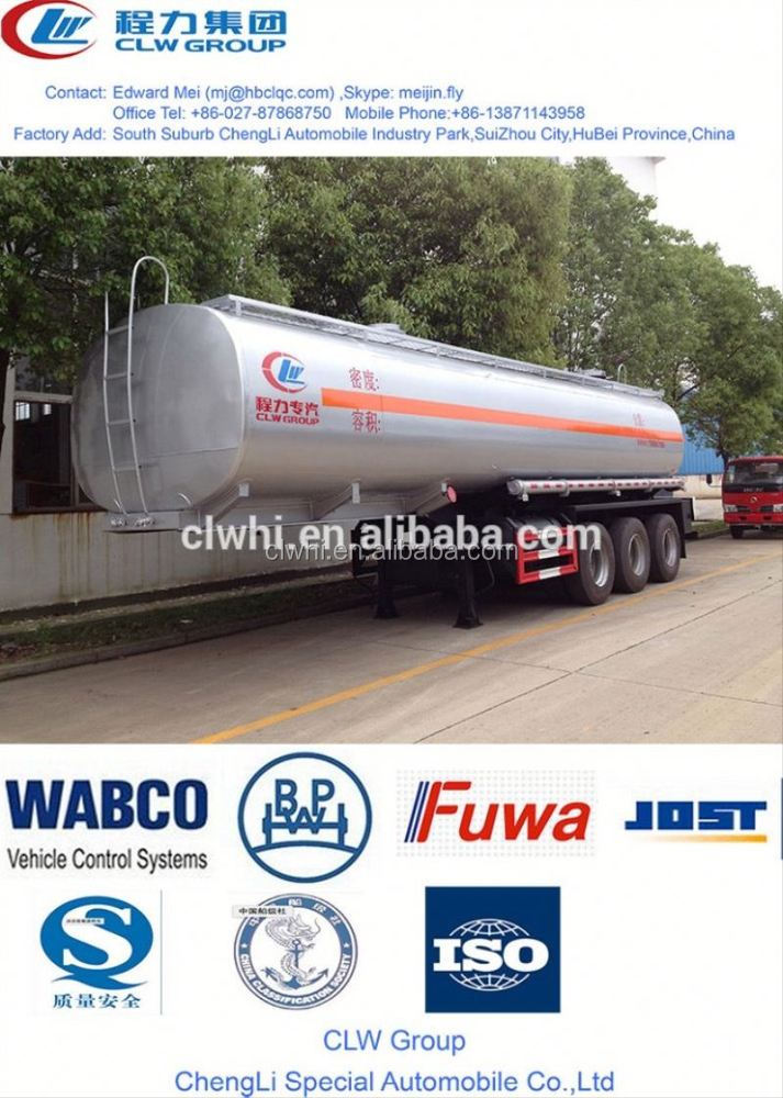 good sale fuel tank semi trailer,30000~60000 liter aluminum box trailer