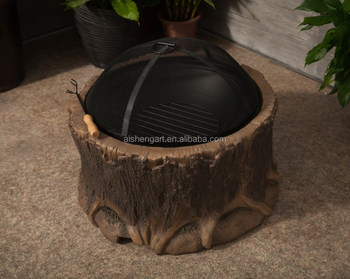Whole Garden Treasures Fire Pit Outdoor Old Tree Bowl Fireplace Product On Alibaba