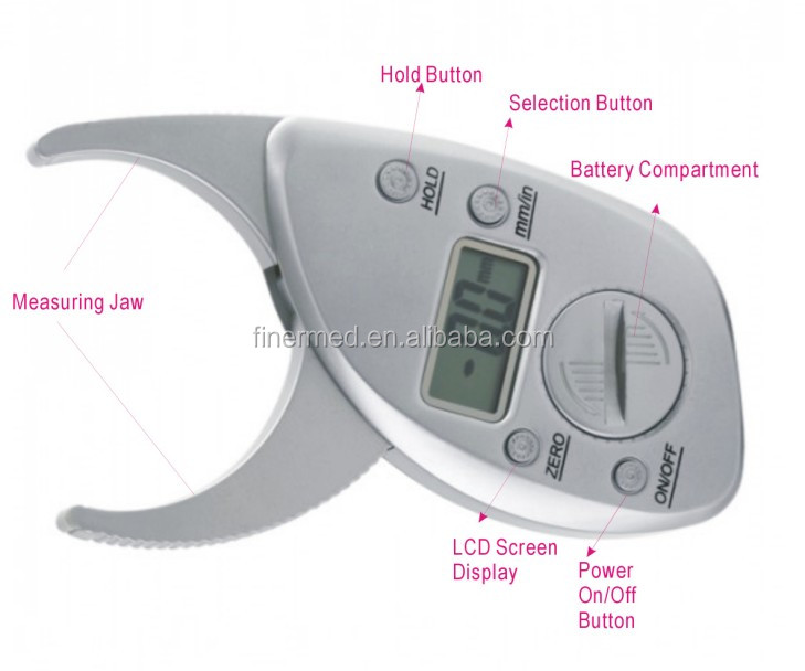 Electrical digital body fat caliper