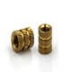 hot sales factory brass knurling threaded insert nuts for metal