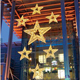 Christmas star 3D hanging ornament large star motif light for holiday shopping malls displays decoration