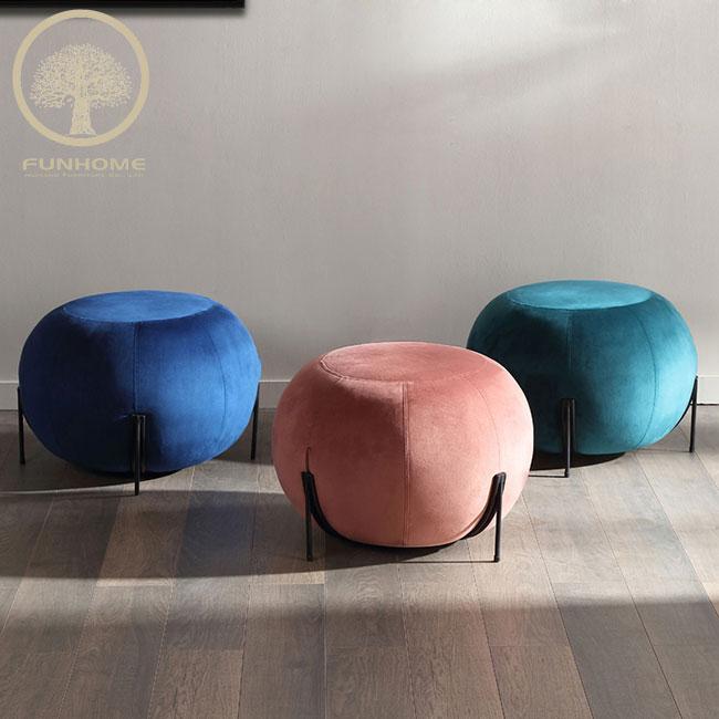 new design modern stool ottoman fabric stool  ottoman chair