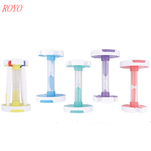 Newest 7 in 1 multifunction pen set with 3 Colour ball pen & highlighter&touch&Mobile phone stand & hourglass sand timer
