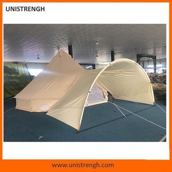 fccd03de0 Best sale high quality heavy duty canvas glamping bell tent with chimney  hole