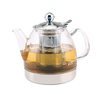 Haonai eco-friendly 0.9~1.0L borosilicate glass tea pot for induction cooker with customized logo