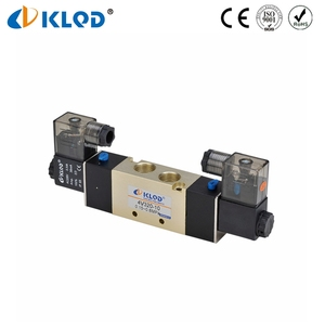 5/2 Way Double Coil Gas LPG Solenoid Valve 12V DC