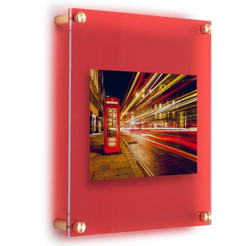 Custom Floating Double Panels Acrylic Frame For 5x7 Photos Buy