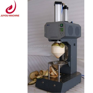 new design stainless steel coconut green fiber shell removing machine
