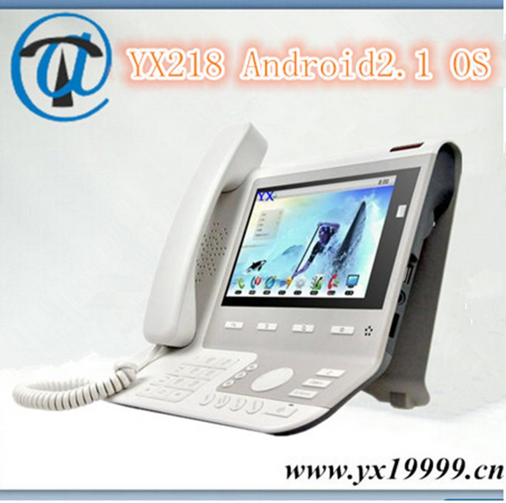 YX218 4 line video ip phone HDMI voip touch screen video phones android desk phone
