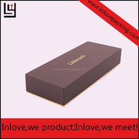 Fancy Display Gift Lid And Tray Box Packaging With Logo Pringting Matte Gold