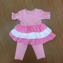Wholesale childrens soft summer girls short clothes set for girls