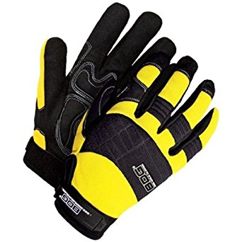 Bob Dale 20-1-10605Y-XL Mechanics Glove with Synthetic Leather Anti-Vibe Gel Palm, X-Large, Yellow