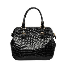 S336-B2475 stone pattern patent leather bags women tote handbag made in china